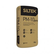 Штукатурка Siltek Pro PM-10 цементно-вапняна. Ручного та машинного нанесення. Сіра (30 кг)